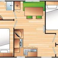 MOBILE HOME 4 PERS. / 2 BEDR. CONFORT